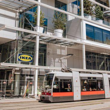 Fenntartható multik? Bécsben nyílik a világ első autómentes IKEÁ-ja